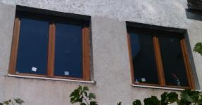 Családi ház fa ablakcsere