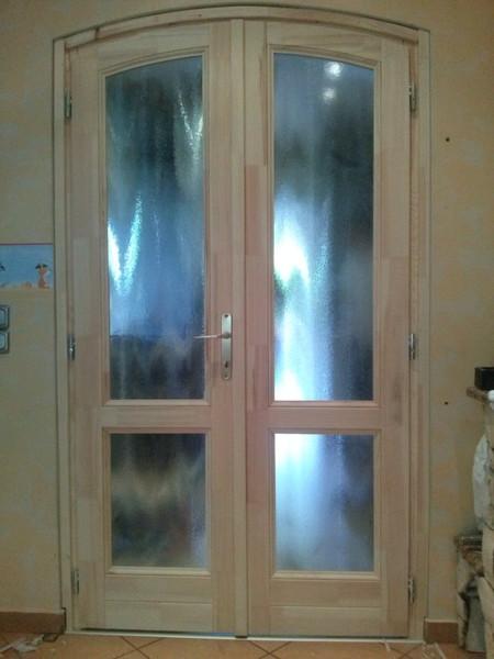 kétszárnyú fa beltéri ajtó